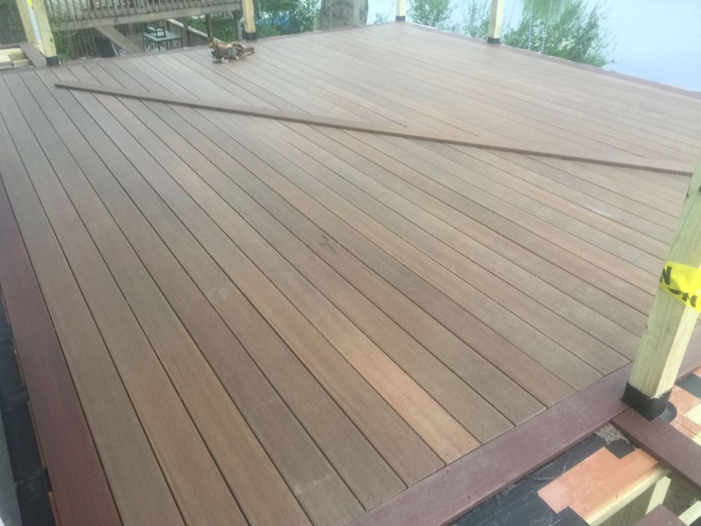 completed lake deck
